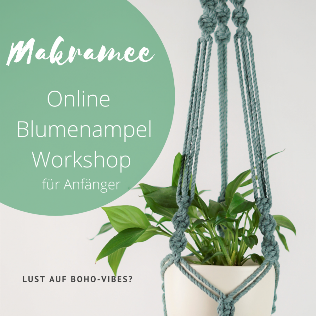 makramee blumenampel workshop online