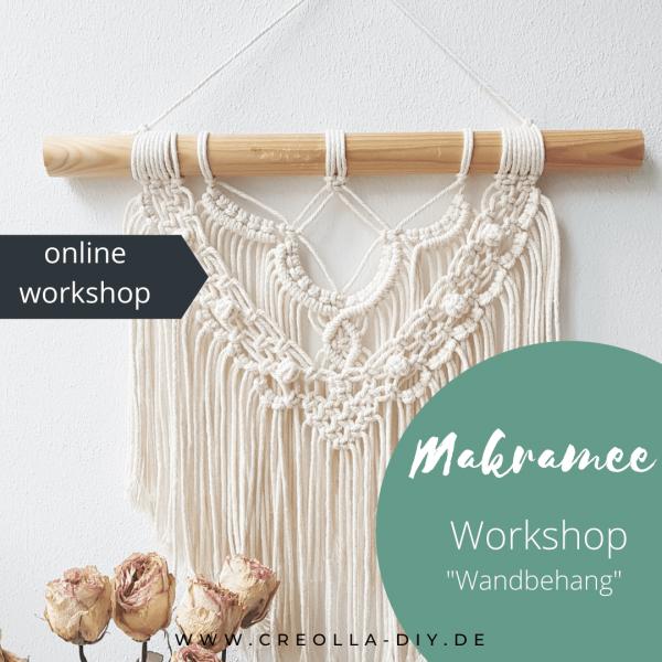 online workshop makramee wandbehang